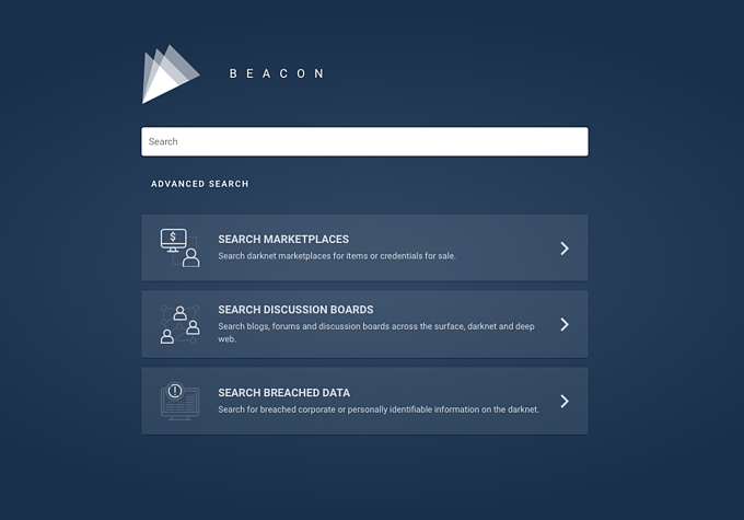 Beacon Home page