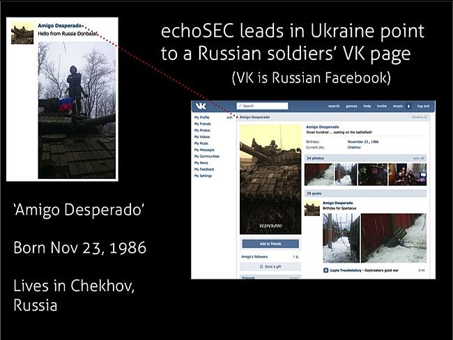 A person of interest found using Echosec.