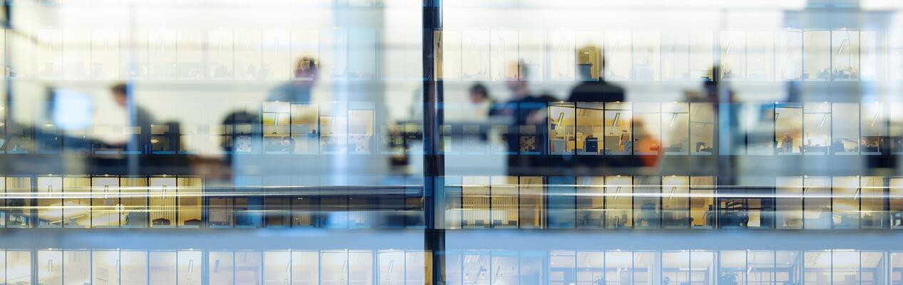 iStock-corporate building windows offices blur